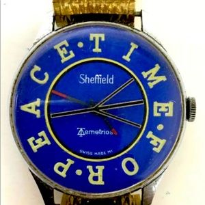 """1970 SHEFFIELD """"TIME FOR PEACE"""" WATCH—VERY RARE!"""